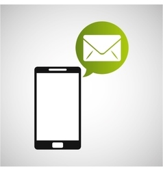 Smartphone and envelope email application vector