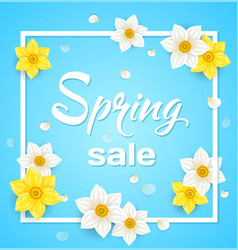 Spring blue background vector