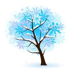 stylized winter fruit tree vector image