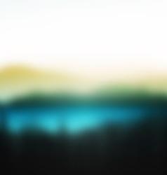 summer nature landscape on background mountains vector image
