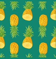 summer pattern with pineapples seamless texture vector image