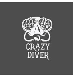 T-shirt print Crazy diver vector