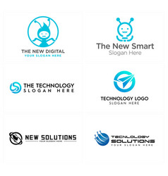 Technology network global icon circuit ant modern vector