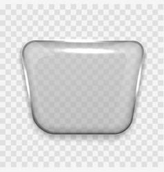 transparent glass shape speech bubble icon vector image