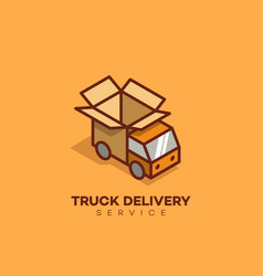 Truck delivery logo vector