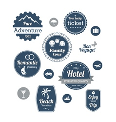 Typography design of travel and cruise tours vector