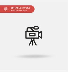 video camera simple icon vector image
