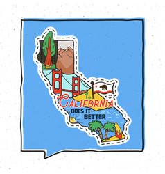 vintage adventure california badge vector image
