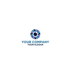 Vision eye care logo design vector