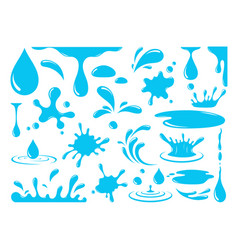 water or oil drops vector image
