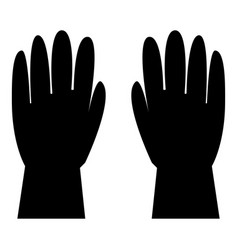 working gloves icon black color flat style simple vector image