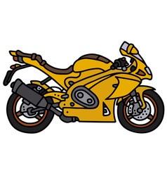 Yellow motorbike vector