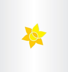 yellow sun flower icon vector image