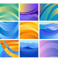 background abstract design set vector image vector image