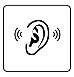 ear sign - silhouette vector image