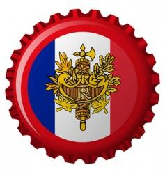 France bottle cap vector image