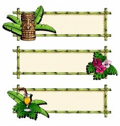 Hawaiian banners vector image vector image