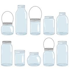 Jars Set vector image
