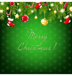 Merry Christmas Silver And Blue Composition vector image