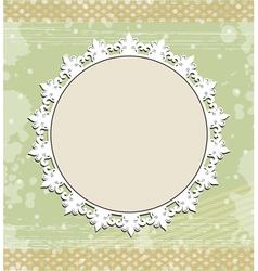 Vintage round frame on floral background vector image vector image