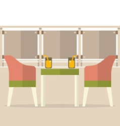 Empty Dinner Interior At Balcony vector image