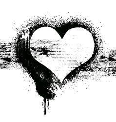 grunge heart symbol design vector image