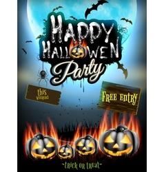 Happy Halloween party EPS 10 vector image