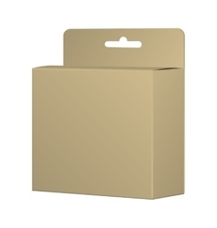 Realistic Recycled Card Product Package Box Mockup vector image