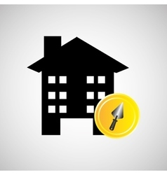 remodel construction building spatula icon vector image vector image