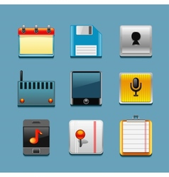 apps icon set vector image