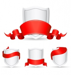 banners and shield vector image vector image