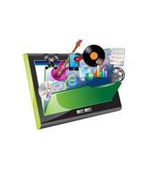 ipad and folder vector image vector image