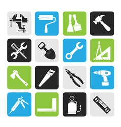 Silhouette Building and Construction work tool vector image vector image