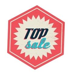 Top sale label vintage style vector image vector image