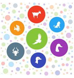 7 wild icons vector