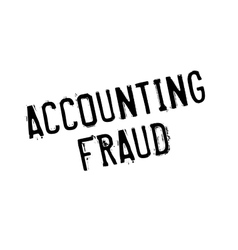 Accounting Fraud rubber stamp vector