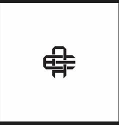 Ae initial letter overlapping interlock logo vector
