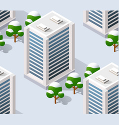 architecture city for seamless vector image