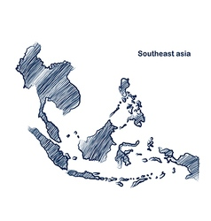 Asean map vector image