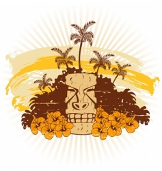 beige and orange Hawaii grunge vector image