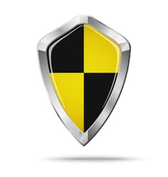 Black and yellow shield security concept vector image