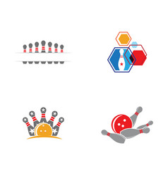 bowling icon template vector image