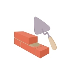 Brickwork and building trowel icon vector image
