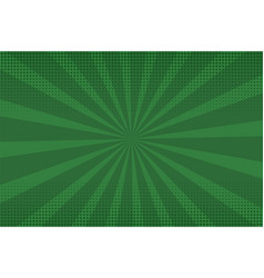 bright sunbeams background with green dots vector image