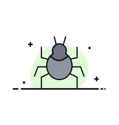 Bug nature virus indian business flat line filled vector