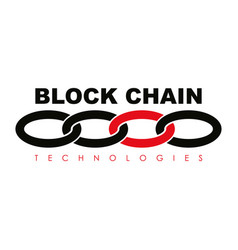 Business block chain logo vector