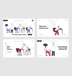 business overload and tiredness website landing vector image