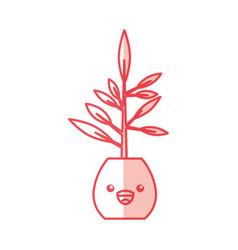 Cactus office plant kawaii character vector
