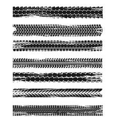 car tires print dirty wheels marks grunge vector image