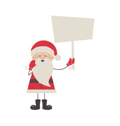 colorful silhouette caricature of santa claus with vector image